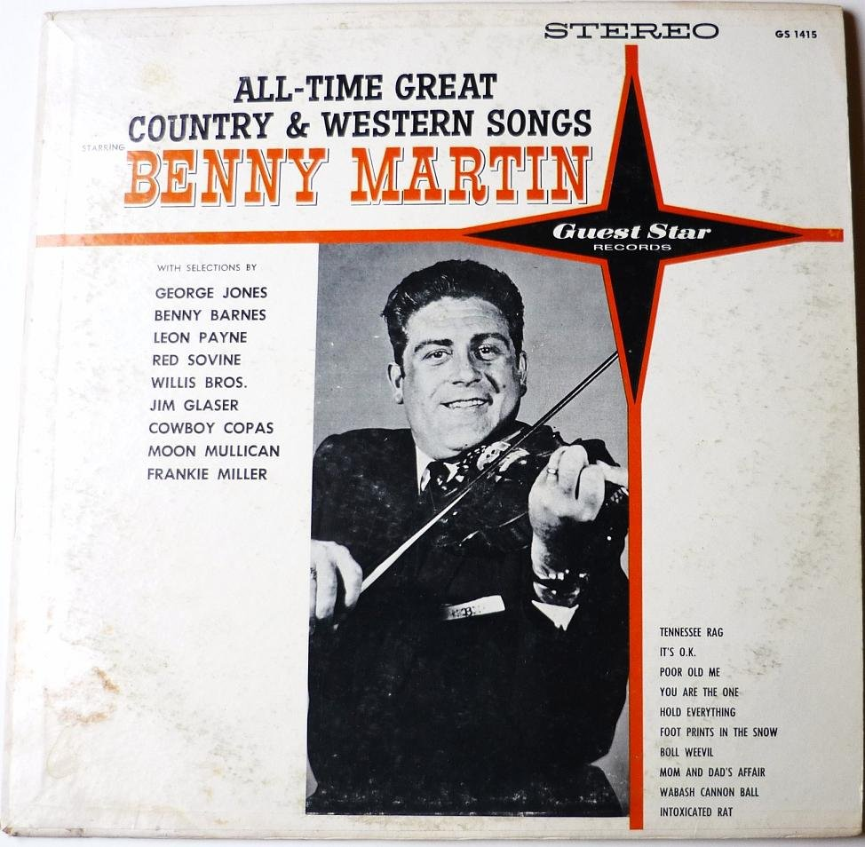 All Time Great Country and Western Songs lp by Benny Martin