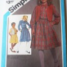 Simplicity UNCUT Pattern 6603 Girls 7 and 8 Dress and Vest