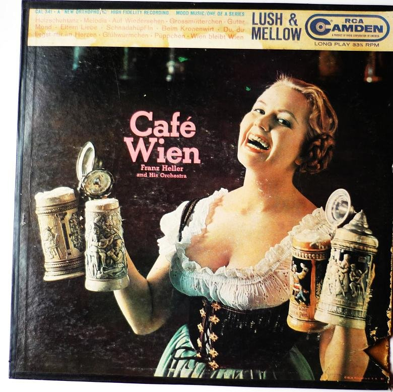 Cafe Wien lp by Franz Heller and his Orchestra