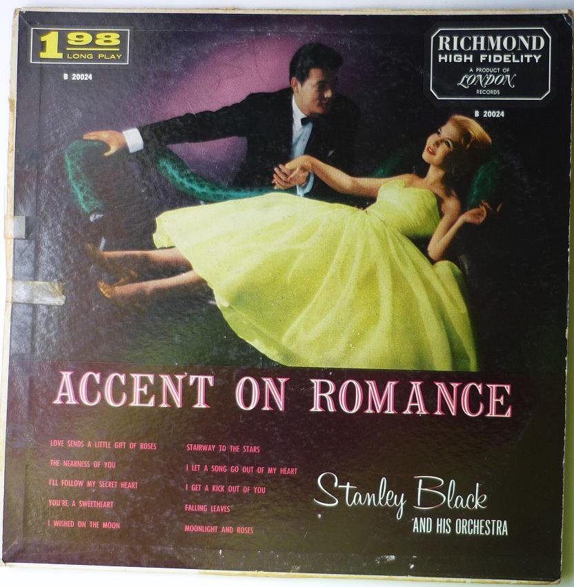 Accent on Romance lp by Stanley Black
