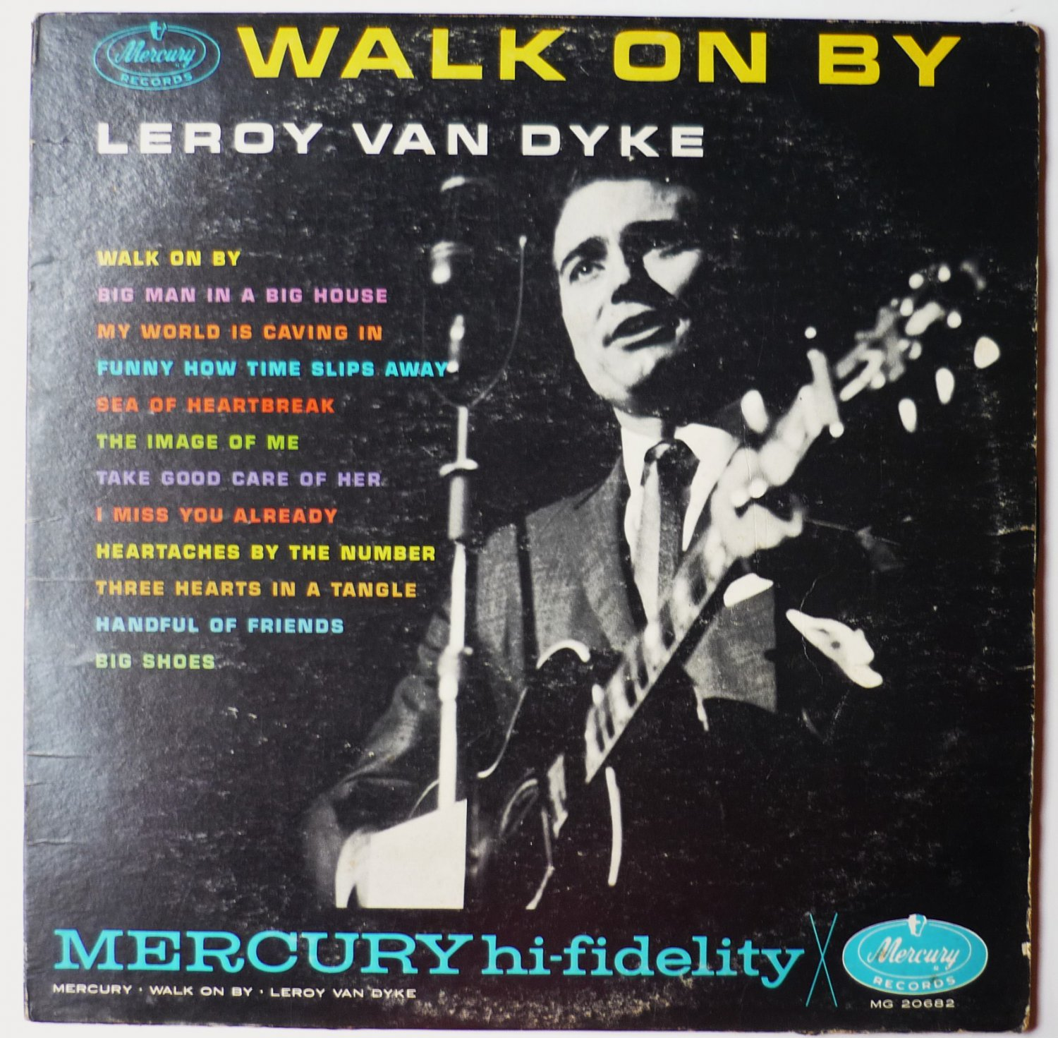 Walk on By - Autographed lp by Leroy Van Dyke