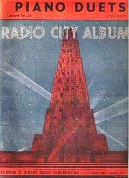 Piano Duets Radio City Albums 1930s Library No 24 Edward Marks Corp rca