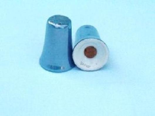 Blue Iridescent Lustreware Luster Ware Salt Pepper Shakers Marked Japan Vintage