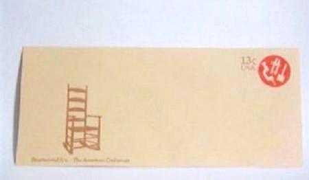 USPS Bicentennial Era American Craftsman 13 cent Envelope Unused