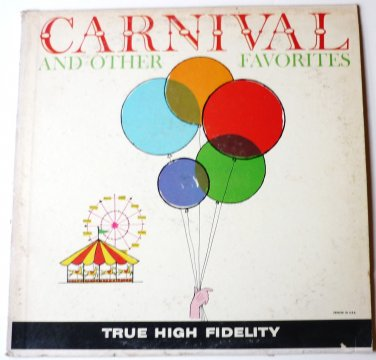 Carnival and Other Favorites lp by Billy Vaughn