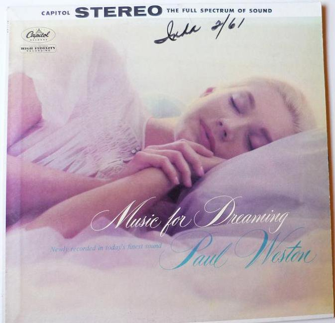 Music for Dreaming LP by Paul Weston