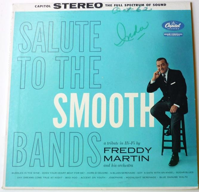Salute to the Smooth Bands lp by Freddy Martin
