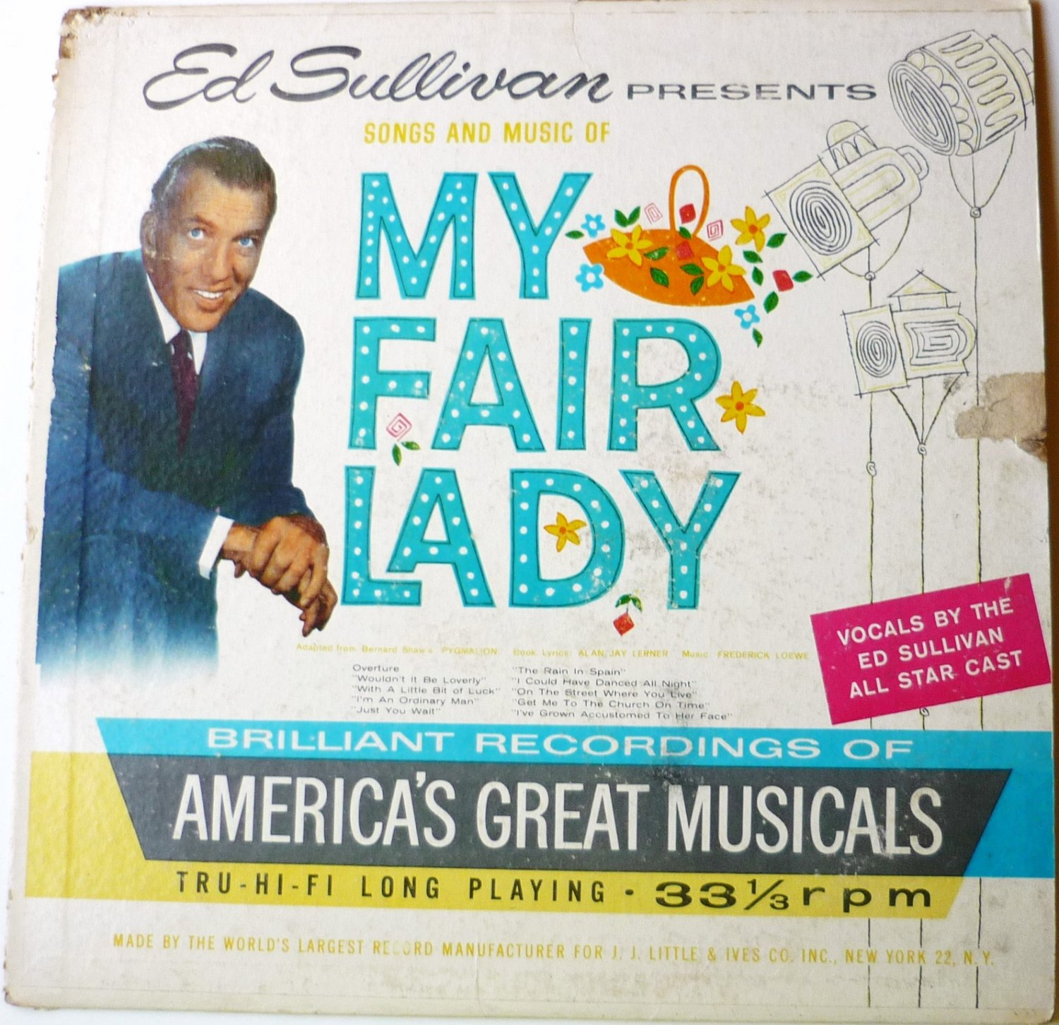 Ed Sullivan Presents Songs and Music of My Fair Lady lp