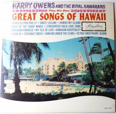 Great Songs of Hawaii lp by Harry Owens and Royal Hawaiians