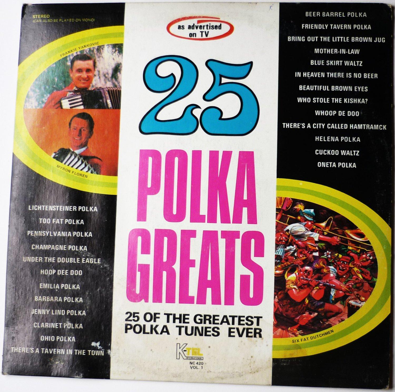 25 Polka Greats lp by Various Singers Vol 1 nc 420