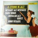 4 Lessons in Jazz lp by Art Blakey Charlie Mingus Johnny Richards