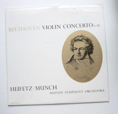 Jascha Heifetz and Charles Munch lp Beethoven Violin Concerto in D