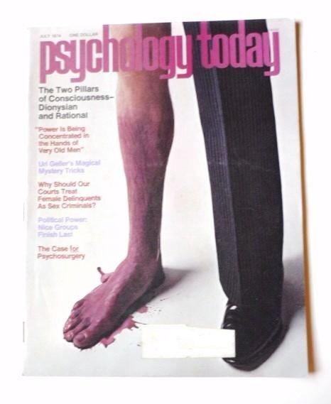 Psychology Today Magazine July 1974