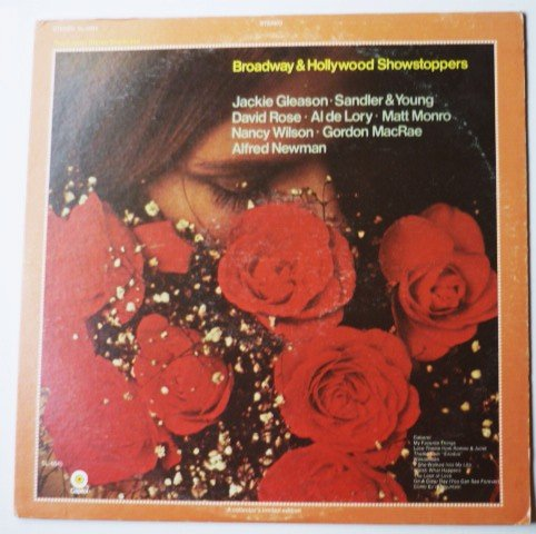 Broadway and Hollywood Showstoppers lp sl-6645 Various Gleason Rose Lory Plus