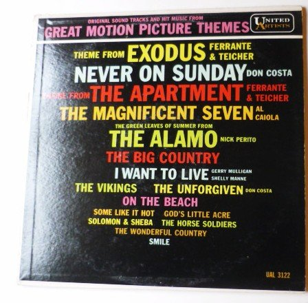 Original Sound Tracks and Hit Music from Great Motion Picture Themes lp
