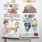 Six Saturday Evening Post 5 x 7 Inch Litho Cpc/Dac 1972 - 2 Norman Rockwell