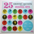 25 Great Country Artists lp Singing Their Original Hits
