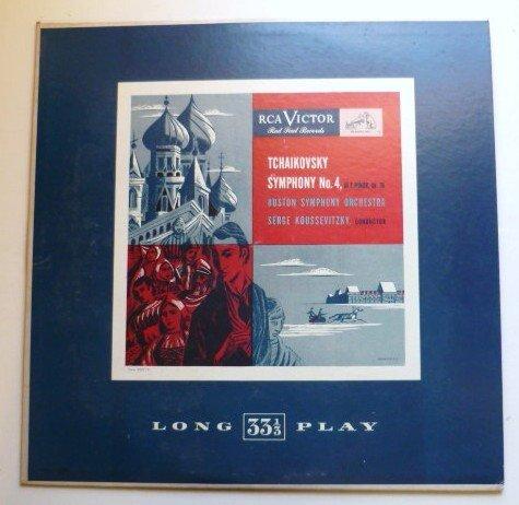 Tchaikovsky Symphony No. 4 lp Boston Symphony