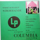 Rimsky Korsakov Scheherazade lp The Philadelphia Orchestra