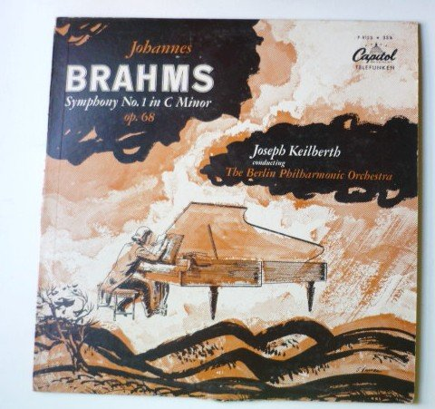 Johannes Brahms Symphony No 1 in C Minor lp by Joseph Keilberth