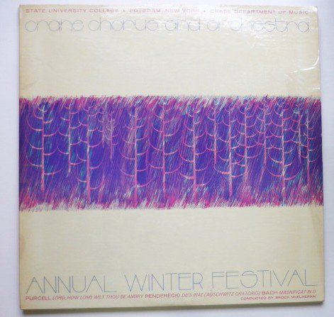 Crane Chorus and Orchestra lp Annual Winter Festival Potsdam State University