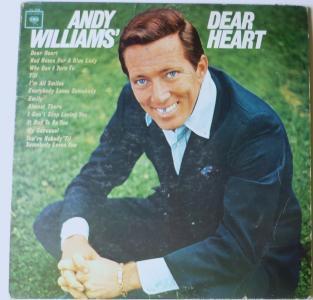 Andy Williams Dear Heart Mono cl2338 lp
