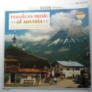 Tyrolean Music of Austria lp Featuring the Most Popular Innsbruck and Salzburg