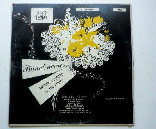 Piano Encores lp by Arthur Sanford - Rare