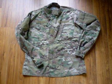 US Army Digital Fatigue Combat Coat Perimeter Insect Guard Flame Resist Med Reg