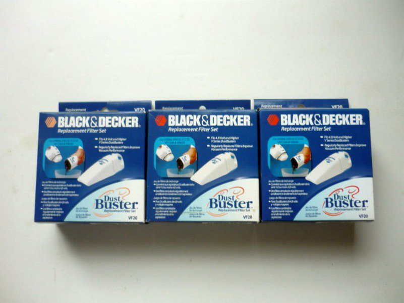 Lot of Three Black and Decker Dust Buster Filter Double Action VF20 NIB