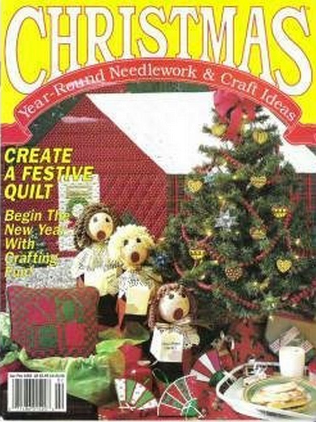 Christmas Year-Round Needlework and Craft Ideas Magazine 1992 Ornaments, Xmas Bunny, Tote, Pillows