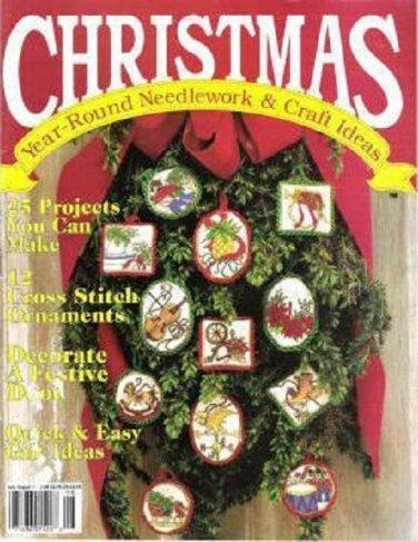 Christmas Year Round Needlework Craft Ideas Mag Jul/Aug 1990 -25 Project Sweater Door Decor