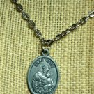 St Anthony Charm Silver metal PRAY FOR US pendant Necklace