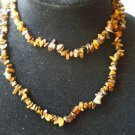 Tigers Eye Chip Bead Necklace 34 inches - New - Gift