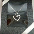 April Birthstone Heart Necklace NIB