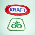 One Kraft Patch and One Pioneer Seed Patch Lot
