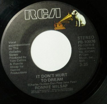 It Dont Hurt To Dream / It Was Almost Like A Song Ronnie Milsap 45 RPM