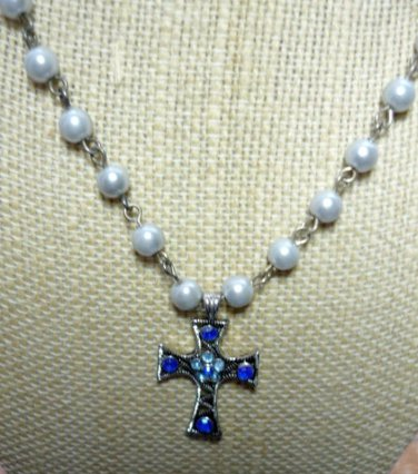 Catholic Rosary Cross Necklace - Adjustable 18 to 20 Inch