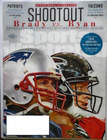 Sports Illustrated Magazine January 30 2017 Brady VS Ryan Super Bowl Preview