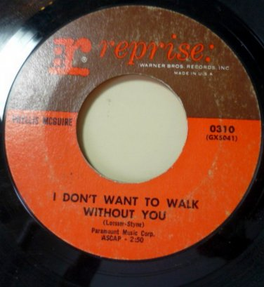 Thats Life / I Dont Want to Walk Without You 45 rpm by Phyllis McGuire