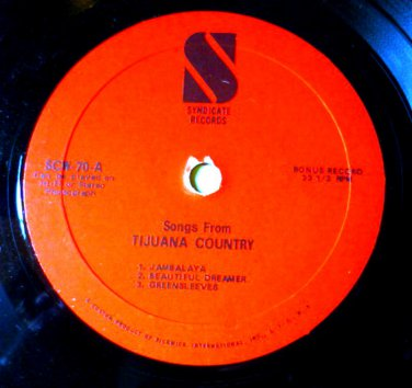 Songs from Tijuana Country 7 in Record Jambalaya~Swanee River~Londonderry Air