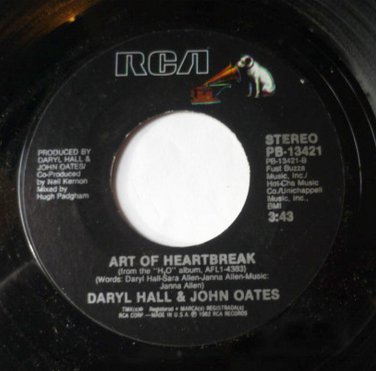 Hall and Oates 45 RPM Art of Heartbreak / One on One