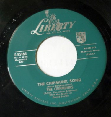 The Chipmunk Song / Almost Good 45 rpm by The Chipmunks