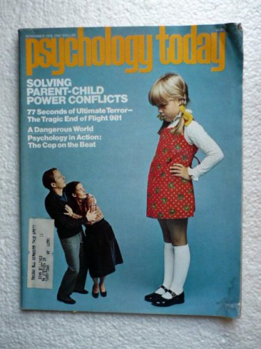 Psychology Today Magazine November 1976