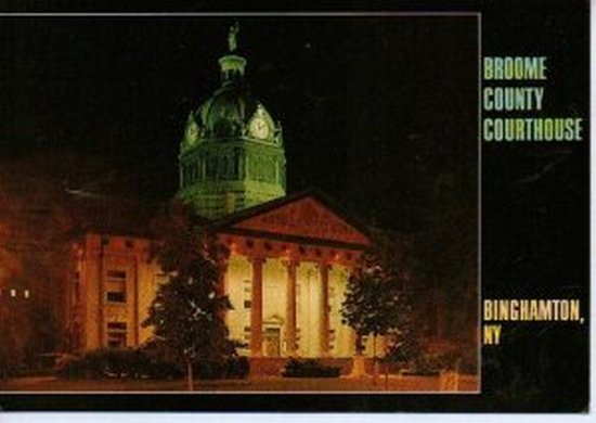 Unused Broome County Courthouse Binghamton NY Postcard 1970s