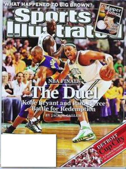 Sports Illustrated June 16 2008 - Duel Pierce vs Kobe