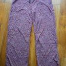 NWT Catherine Malandrino Pajama Pants Womens Size XL Maroon Marble Sleep Lounge