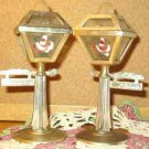 Vintage Street Light Pole Salt and Pepper Shakers ~ Hand Painted VGC