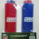 NFL Giants Condiment Set Plastic Ketchup Mustard Bottle Set of Two