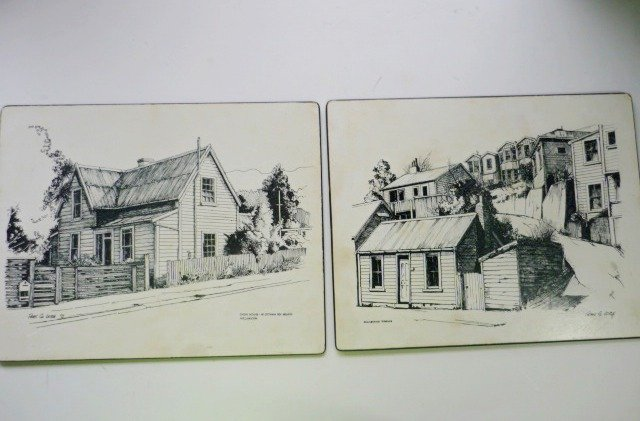 Milhurst Tawa New Zealand Place Mats Cork Back 11 x 9 Inches - Set of 2 - Leitch